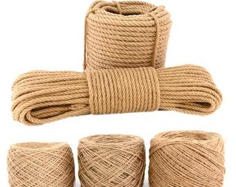 Jute Rope in 10yards, 10mm jute  Rope, Jute Cord, jute  Wire, 16mm jute  rope for Hammocks,Plant Holders,Gardening,Crafts,decking