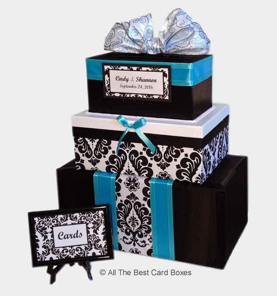 Aqua Wedding Card Boxblack And White WeddingWedding Card