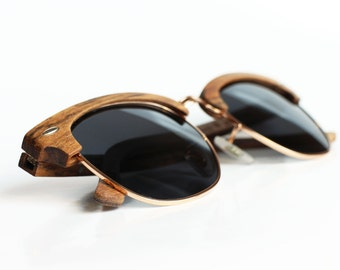 Polarized Wood Sunglasses from Ebony, Wooden Eyewear by WOODEER