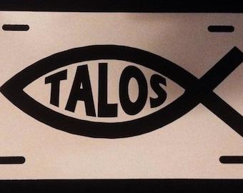 Skyrim Talos Fish License Plate