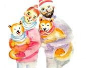 Custom Illustration Portrait Watercolor - Traditional Art - Custom Couple Portrait