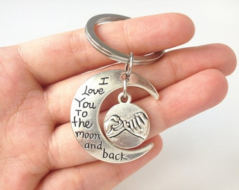 anniversary gifts for boyfriend,anniversary keychain,anniversary key chain,anniversary gift,i love you to the moon and back keychain