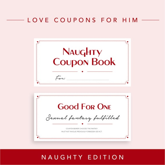 Naughty Edition // Love Coupons for Boyfriend Valentine's