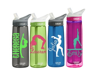 Gymnastics Personalized CamelBak 0.75 Eddy or 20 Ounce 20-oz Insulated Camelback Personalized  Water Bottle Sports bottles Name