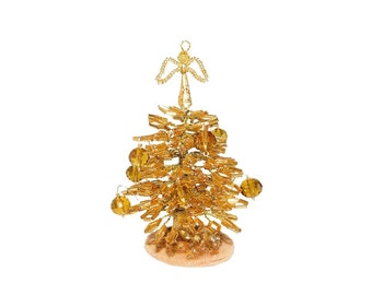 Gold christmas tree | Etsy