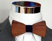 Walnut Wood Bowtie - Suits - Wood Bowtie - Men's Ties - Interchangeable Neck Strap