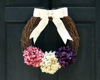 Primitive Easter Wreath for Front Door, Wreath for Spring, Grapevine Wreath, Easter Door Hanger, Porch Decor, Rustic Spring Wreath for Door