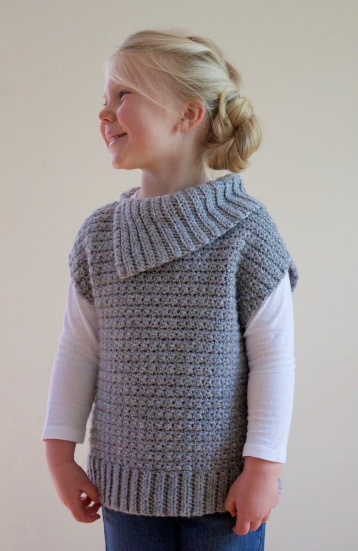 Crochet Pattern -Lula Pullover Sweater, PDF Instant ...