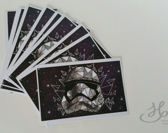 Postcard printing Stormtrooper and universe size A6