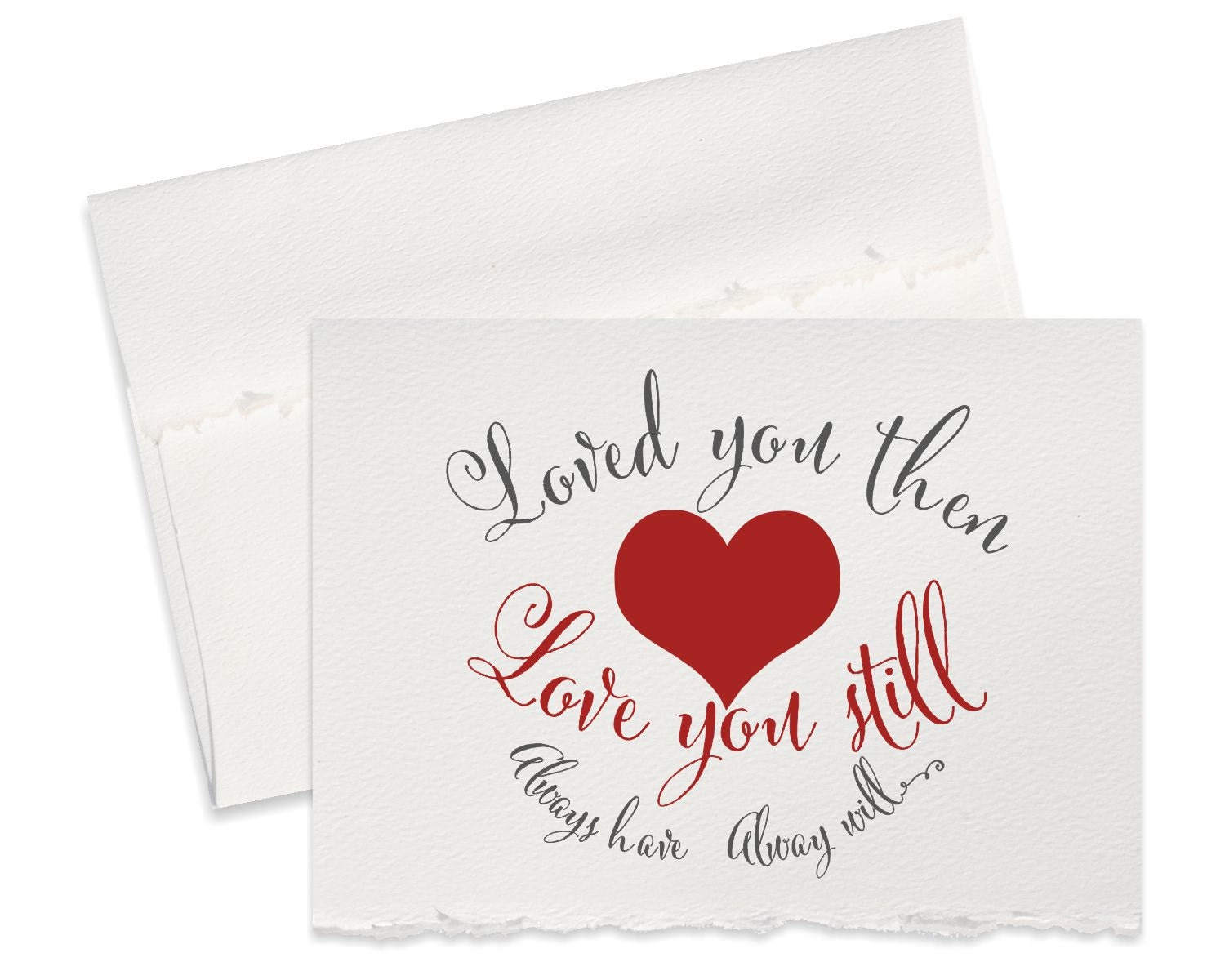 St anniversary card him her love cute quote heart
