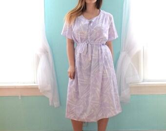 Vintage 1970s In a Carol Purple and White Tribal Print Tunic Dress Deadstock NWT NOS XXLarge xxL XXXLarge Xxxl Plus Size 24 26 28 2x 3x