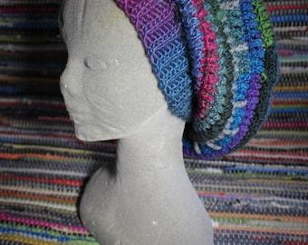 Dread hat // tam // slouch hat // festival // Fiber art // UK