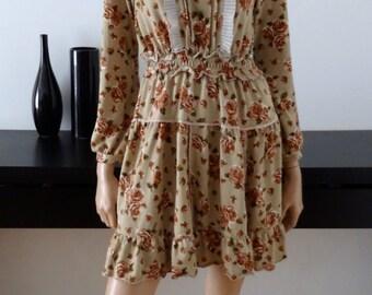 Robe AXES femme neuve fleurs japon romantique lolita kawaii taille 38 - uk 10 - us 6