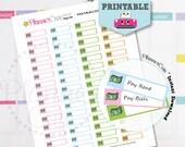 Bills Stickers, Printable Kawaii Pay bill Sticker, Bills Label Reminder, Planner Stickers, Pay Bills, Erin Condren, K035
