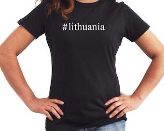 Lithuania  Hashtag Women T-Shirt