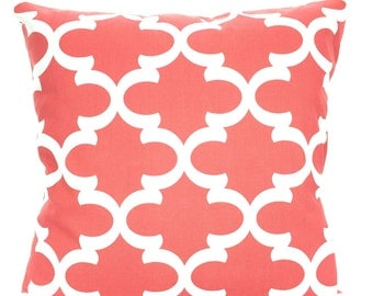 Solid Coral Pillow Covers, Decorative Throw Pillows, Cushions, Throw Pillows for Couch, Decorative Pillow, Solid Coral One or More All Sizes