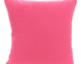 Solid Pink Pillow Covers Decorative Throw Pillow Cushions Throw Pillow For  Couch Decorative Pillow Hot Pink