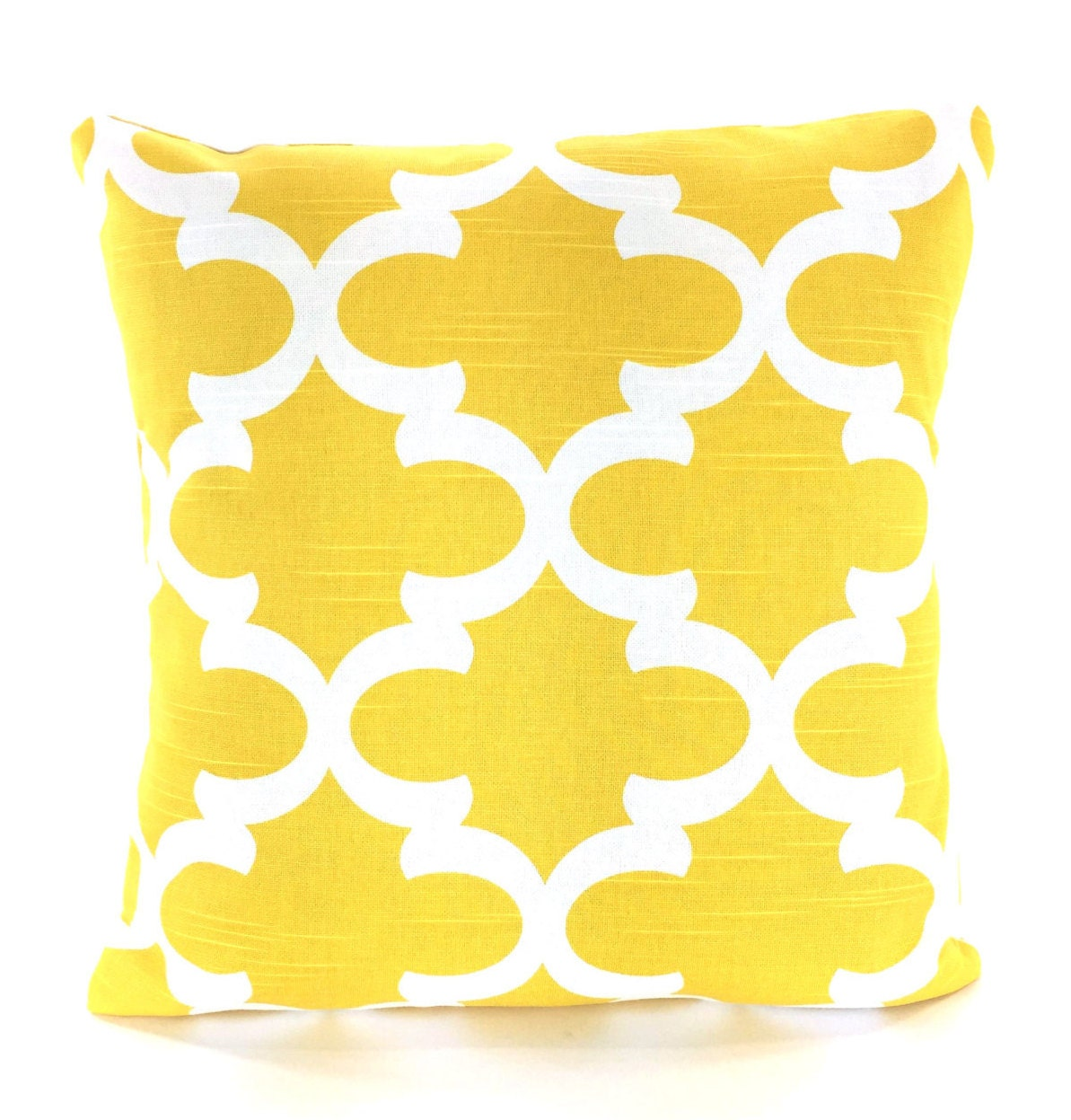 Yellow Decorative Throw Pillow Covers Cushions Corn Yellow