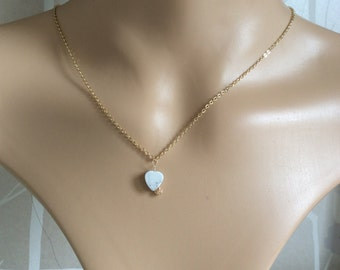 Dainty gold heart pendant chain. Gift boxed.