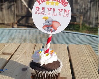 Dumbo Cupcake toppers, circus party