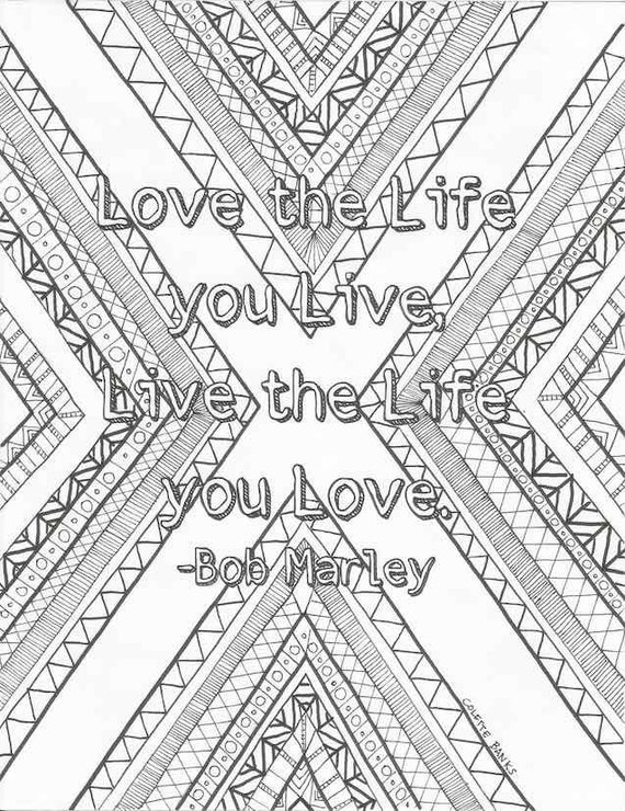 Love the Life Quote by Bob Marley Digital Print by EssenceofInk
