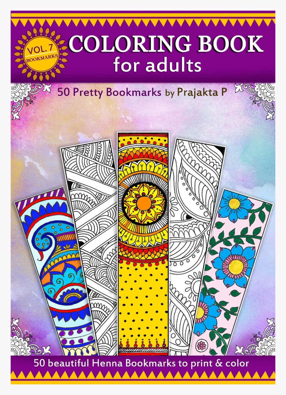 Printable Bookmarks Adult Coloring Book By