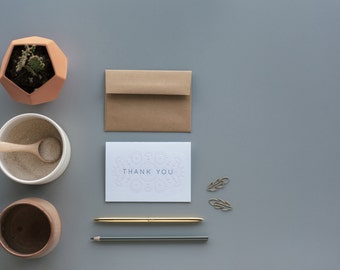 Järvsösöm Thank You Letterpress Card