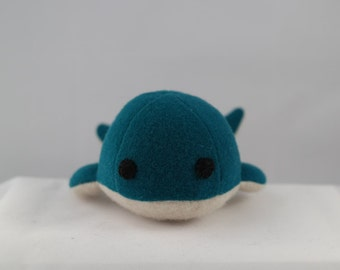 Teal wool whale
