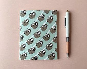 Pocket Notebook – Sloth Pattern