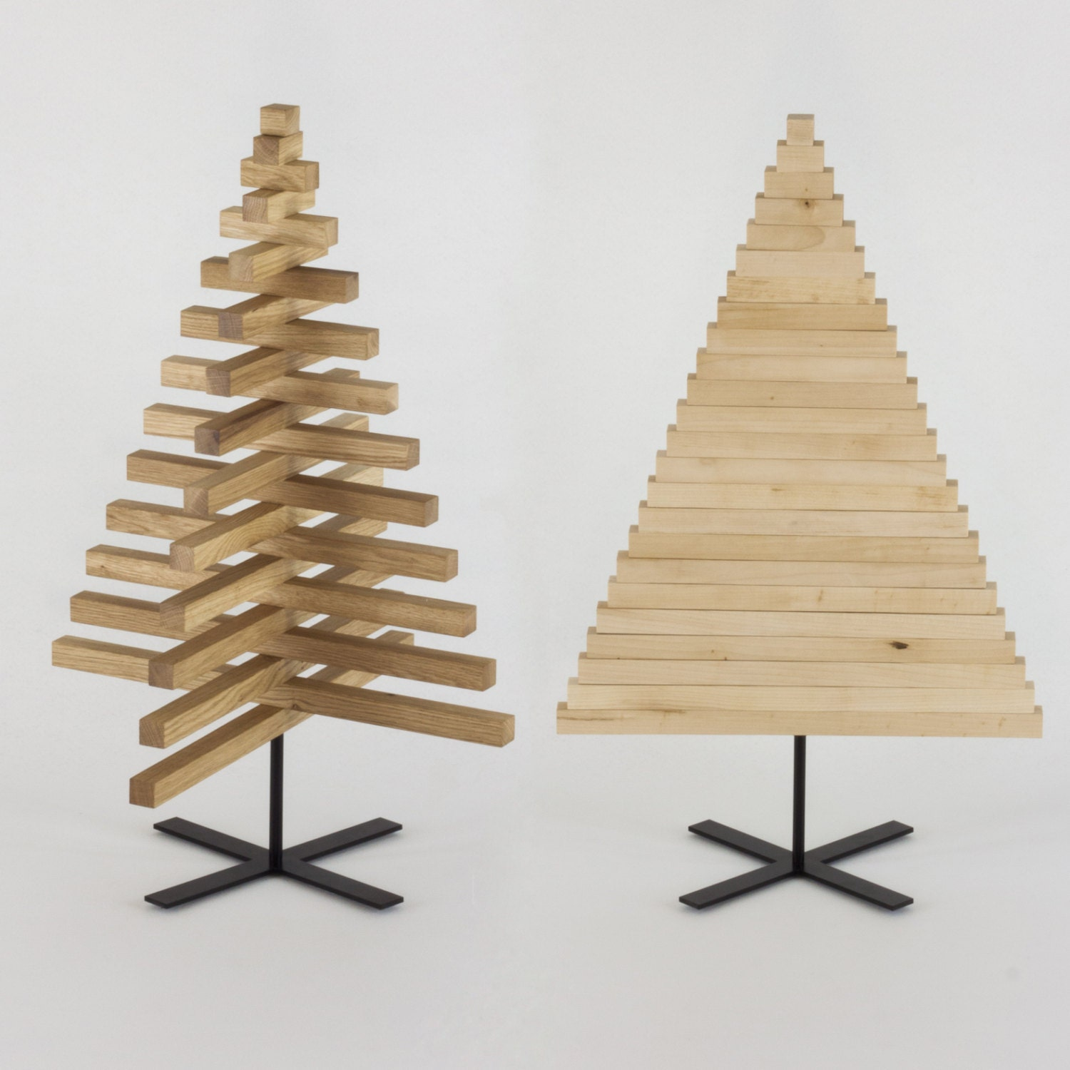 Wooden christmas tree 30 inch 75 cm oak maple wood x Christmas trees made out of wood