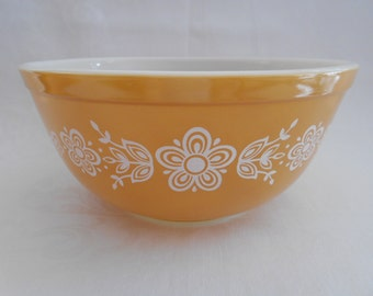Vintage Pyrex Butterfly Gold Mixing Nesting Bowl #403 1970's  #10197