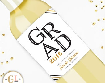 Graduation Gift Wine Label, College Graduation Gift, Unique Graduation Gift, Graduation Party Favor, Tassle was worth the Hassle Graduation