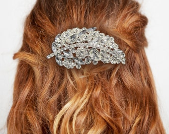 Leaf hair comb Rhinestone hair comb Wedding hair comb Bridal accessories Hair accessories Bohemian wedding Crystal hair comb Bride hair comb