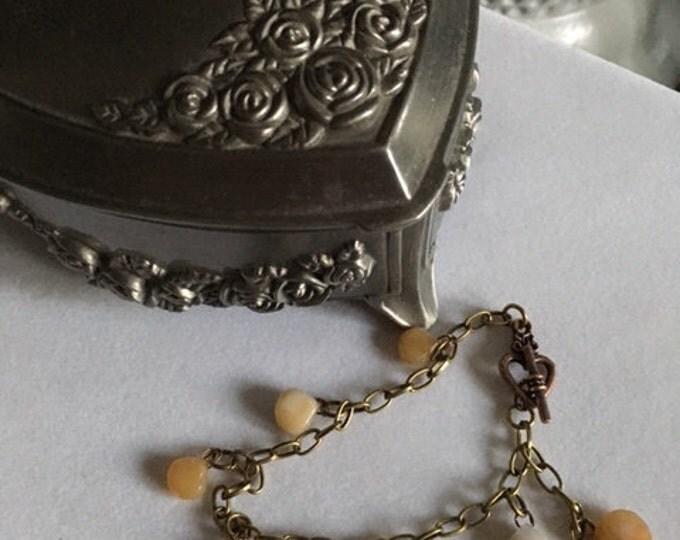 Yellow Opal Charm Bracelet