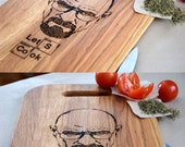 Breaking Bad Custom Engraved Cutting Board Light Brown Let's Cook Anniversary Gift Mother's Day Personalized. Gift idea. Heisenberg