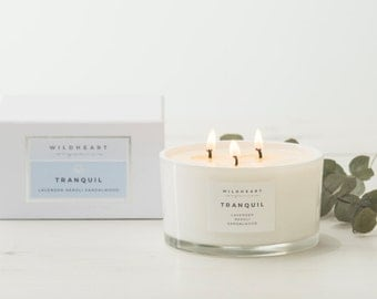 Soy Candle  -  Lavender & Neroli Blossom, Ultimate Therapy Aromatherapy Candle,