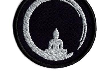 Zen budda meditation Iron/sew on Patch