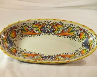 Vintage Meridiana Ceramics Made in Italy Bowl Tray Serving Dish