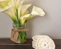 Cotton Cosmetic Pads, Crochet Face Scrubbies, Set Of 5 Face Scrubbies , Crochet Scrubbies, Face Scrubbies
