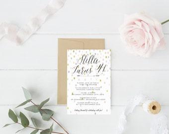 Confetti Birthday Invitation - Printable Design