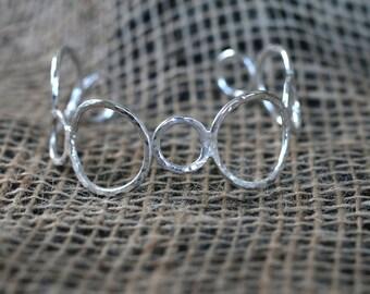Sterling Silver Bubble Cuff Bracelet