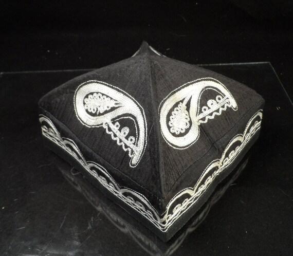 Tête de mort Skull Cap-Antique ouzbek Chust style Antique bouchon Central asiatique mariage Skull Cap
