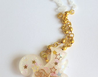 Magical Key Squirrel Necklace - fairy kei sweet lolita jewelry