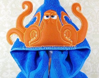 Hank Octopus Finding Dory Inspired Hooded Towel on High Quality Belk Department Store Towels