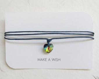 Wish bracelet, make a wish bracelet, swarovski bracelet, love bracelet