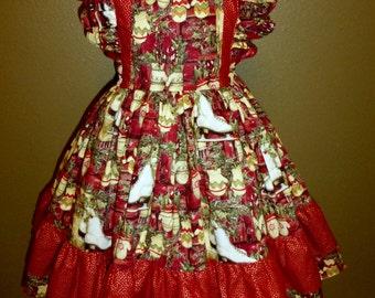 Christmas, Girls Dress, Size 8, Ice Skates, Mittens, Ruffles