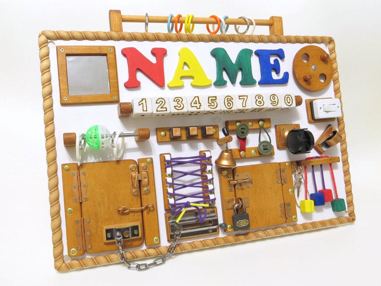 BUSY BOARD Sensory Toy Activity Game For Boy Montessori Fine