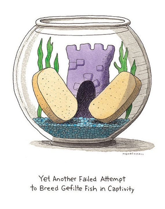 Gefilte fish jewish humor bar mitzvah hanukkah gift fish for Jewish gefilte fish
