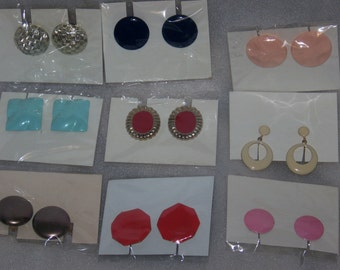 Vintage Clip On Earring Collection ( 9 Different Pair)
