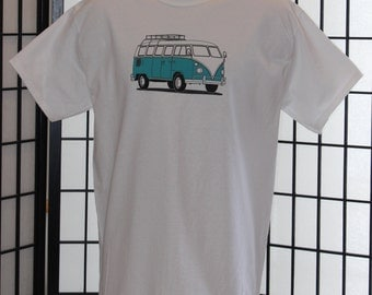 VW Bus T Shirt. VW Bus Shirt for Men. T Shirt For Men. VW Camper Bus Shirt. Screen Printed Shirt. Vintage Design T Shirt for Men